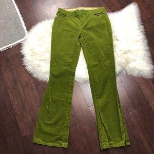 Lilly Pulitzer green vintage corduroy retro pants